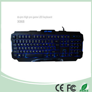 3 Colors Wired USB Computer Game Keyboards (KB-1901EL) pictures & photos