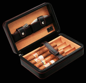 Leather Cohiba Cigar Storage Humidor pictures & photos