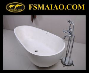 Special Design Freestanding Solid Surface Bathtub (BS-8608) pictures & photos