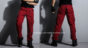 New Design Mens Red Cotton Cargo Pants pictures & photos