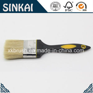 Rubber Handle Painting Brush with Natural White Bristle pictures & photos