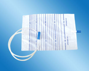 2000ml Drainage Bag Push-Pull Valve Urine Bag (DUB-011) pictures & photos