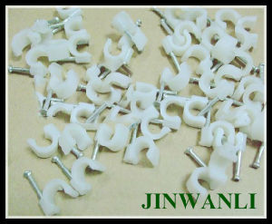 Plastic PE Wall 8mm Nail Cable Clips with CE pictures & photos