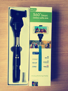 360 Degree Smart Rotation Bluetooth Selfie Stick
