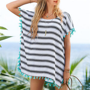 Hot Sale Chiffon Loose Small Tassel Beach Dress (50157) pictures & photos