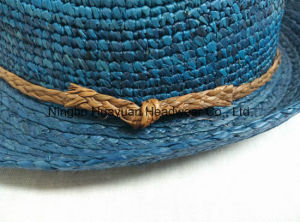 100% Fine Crocheted Raffia Fedora Straw Hat pictures & photos
