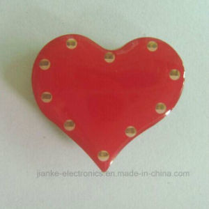 Customize Heart-Shaped LED Flashing Badge with Logo Printed (3161) pictures & photos