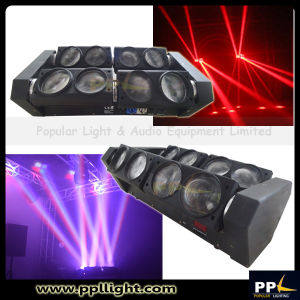 Four Independent Heads 8X10W LED Spider Light with Unlimited Rotation