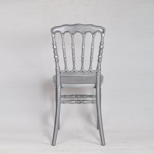 Silver Polycarbonate Resin Party Outdoor Dining Napoleon Chair pictures & photos