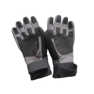 Soft Waterproof Neoprene Fishing Gloves (HX-G0050) pictures & photos