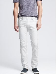 Men′s Five Pocket Style Slim White Jean pictures & photos