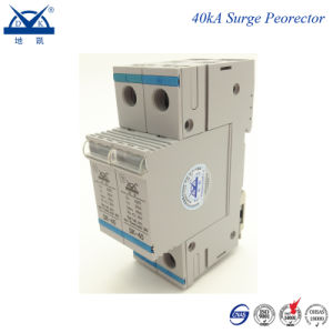 DIN Rail 2p Single Phase AC 220V Power Lightning Protector pictures & photos