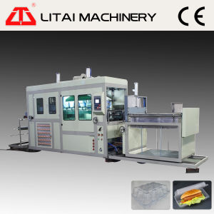 Plastic Sheet Pre-Heating Lunch Tray Vacuum Forming Machine pictures & photos