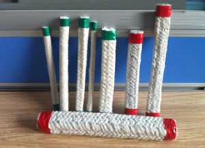 Stainless Steel Wire Reinforced Ceramic Fiber Braided Round High Temperature Fiberglass Rope Factory pictures & photos