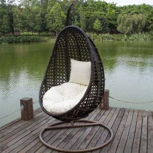 Wicker Balcony Hanging Egg Chair with Cushion Color Option and Stand. pictures & photos