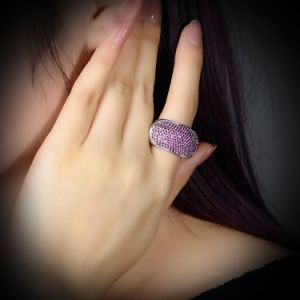 Fashion Gift Jewelry Crystal Black Gun Finger Ring pictures & photos