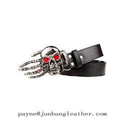 Fashion Hand-Shaped Skull Leather Belt pictures & photos