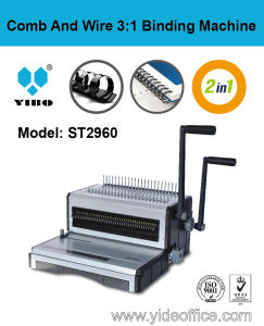 2-In1 Comb and Wire 3: 1 Binding Machine F4 Size (ST2960) pictures & photos