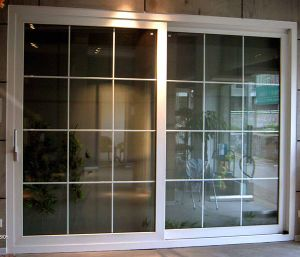 Main Entrance Grill Glass Design PVC Sliding Door