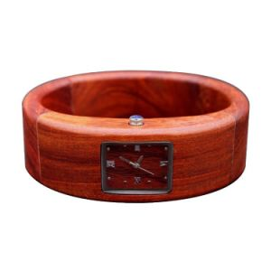 OEM Pure Natural Wood Bracelet Quartz Watch Environmental Watches pictures & photos