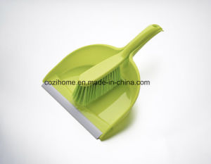 Colorful Plsastic Dustpan with Brush (3404) pictures & photos
