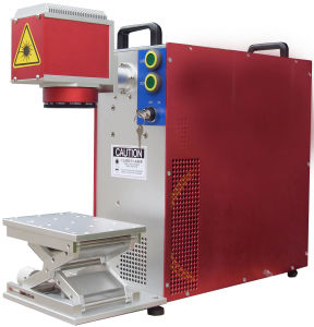 Portable Fiber Metal Coating Laser Marking Machine with Rotary Attachment pictures & photos