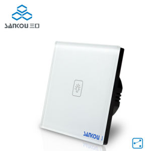 Sankou Wall Switches Capacitive Crystal Glass Panel 220V 1gang 2way Light Touch Wall Switch Sk-A801-02