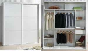 2.1 M Modern Simple Style Wooden Customized Sliding Wardrobe pictures & photos