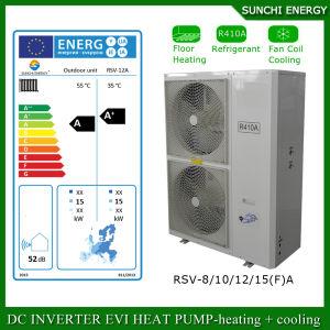 Evi Tech. -25c Winter 100~320sq Meter House Floor Heating 12kw/19kw/35kw Auto-Defrost High Cop Split Heat Pump Systems pictures & photos