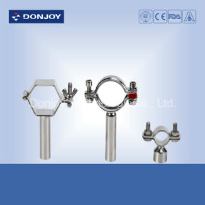 Stainless Steel Sanitary Pipe Holder with Handle pictures & photos