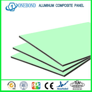 Onebond Green Color Aluminum Composite Panel for Decorative Wall pictures & photos