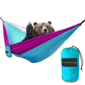 Carries Outdoor Double Camping Parachute Hammock Foldable Hammock