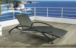 Foshanoutdoor Synthetic PE- Rattan Outdoor Folding Beach Furniture Sun Lounger Chaise Lounger (YTF465-1) pictures & photos