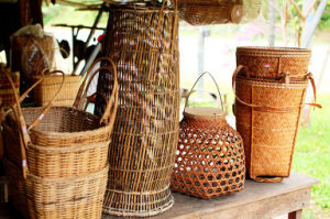 Bamboo and Rattan Storage Crate pictures & photos