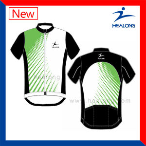 Healong Fashion Design Sportswear Customized Sublimation Cycling Jersey pictures & photos