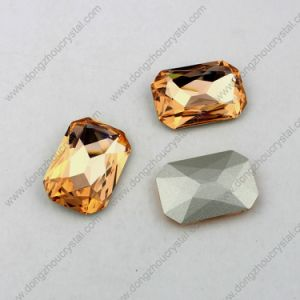 Fancy Loose Octagon Shape Gemstone Clear Glass Stone pictures & photos