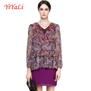 Spring&Autumn New Fashion Floral V-Neck Women Blouse/Shirt