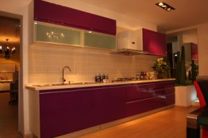 Custom Made PVC Modern Kitchen Furniture pictures & photos