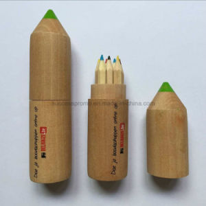 Promotional Colored Pencil Set in Wooden Tube pictures & photos