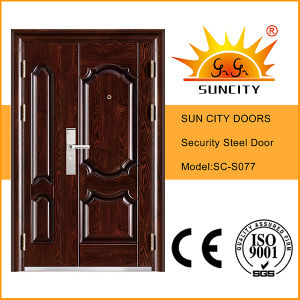 Best Price Security Exterior Steel Iron Door (SC-S077) pictures & photos