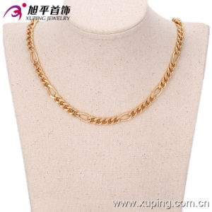 Fashion Xuping 18k Gold -Plated Men′s Neckalce in Environmental Copper-42622 pictures & photos