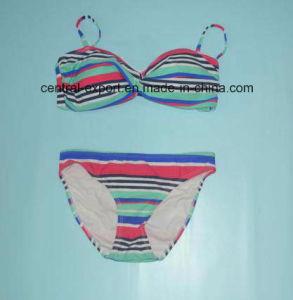 Fashion Bikini Lady Swimwear with Stripes pictures & photos