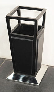 Painting Coated Dustbin with Ashtray (YH-127) pictures & photos