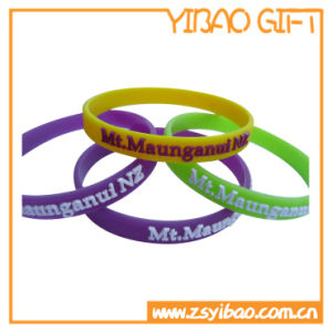 Custom Emboss Silicone Wristband for Promotional (YB-SW-05) pictures & photos