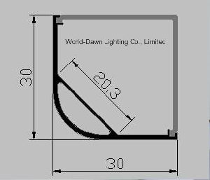 OEM Length Square Model LED Lighting Aluminum Profile (WD-A54-2) pictures & photos