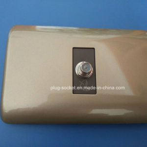 Wall Plate with F Female 1 Gang TV Socket (W-096) pictures & photos