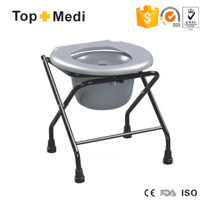 Cheapest Price Folding Commode Chair with Bedpan pictures & photos