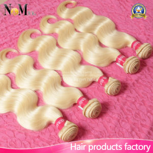 Double Layer Weft Full Thick Ends Best Quality Eurasian Blonde Russian Hair pictures & photos