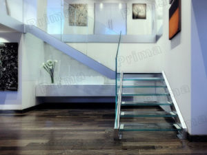 Unbreakable Lamianted Glass Straight Staircase / Glass Stair pictures & photos