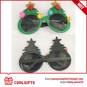 2016 Festival Colorful Sunglasses with Christmas Tree Shape for Gift pictures & photos